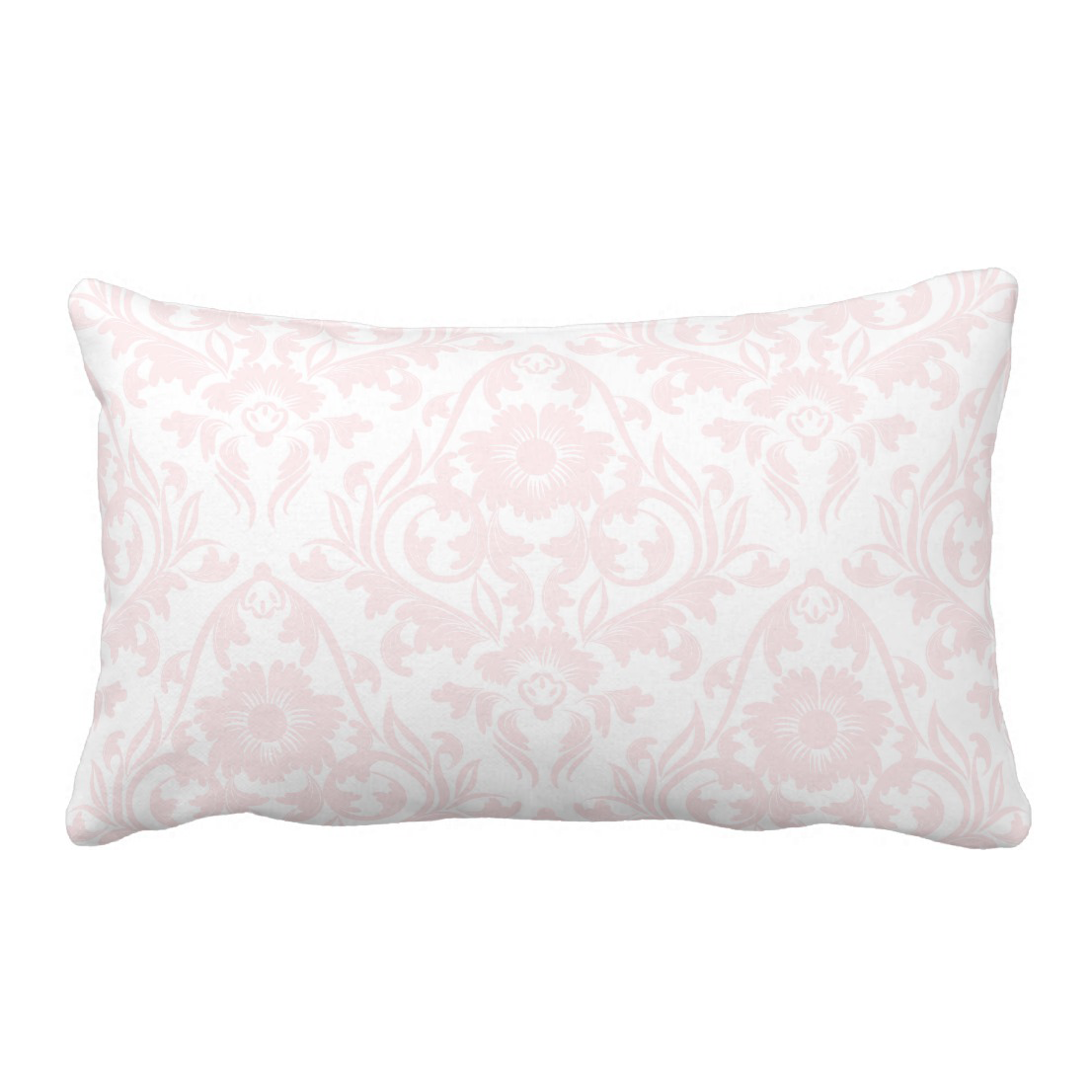 pink blush damask floral traditional lumbar pillow jomazzle